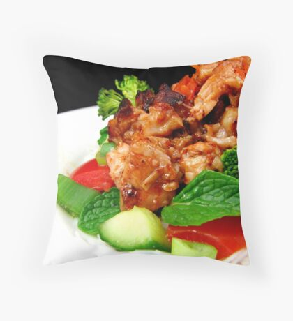 Spicy Vietnamese Chicken Salad Throw Pillow