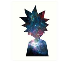 Rick and Morty Galaxy Design Art Print