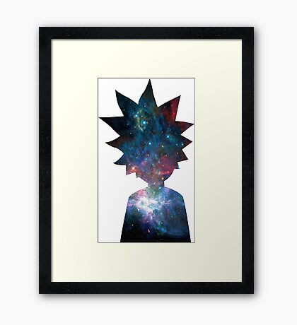 Rick and Morty Galaxy Design Framed Print