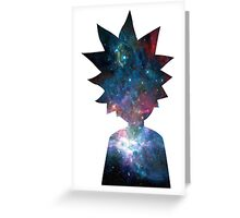Rick and Morty Galaxy Design Greeting Card