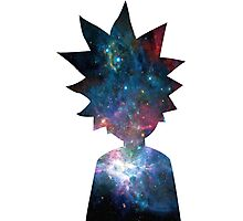 Rick and Morty Galaxy Design Photographic Print