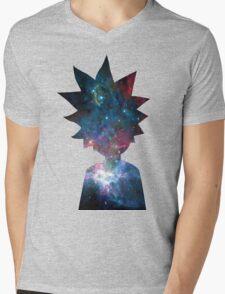 Rick and Morty Galaxy Design Mens V-Neck T-Shirt