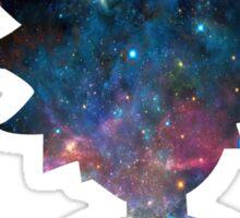 Rick and Morty Galaxy Design Sticker