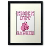 Knock Out Breast Cancer Framed Print