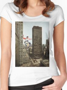 URBAN SK8. Women's Fitted Scoop T-Shirt
