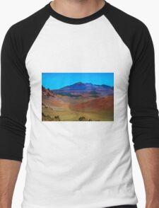 Landscape inside Haleakala National Park - Maui, Hawaii Men's Baseball ¾ T-Shirt