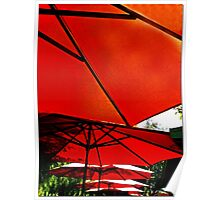 Cell Phone Umbrellas Poster