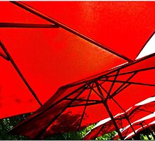 Cell Phone Umbrellas 2 by Chet  King