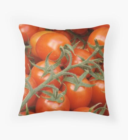 On the market at Amalfi, Italy Throw Pillow