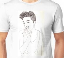 Smoking guy Unisex T-Shirt