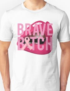 Brave Bitch Breast Cancer Fight Survive T-Shirt