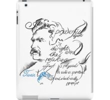 Mark Twain Picture Quote - The Right Word iPad Case/Skin