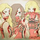 Zombie Unholy Trinity (print) by marlene freimanis