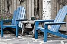 Blue Seating For Two by Sandra Foster