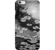 The afternoon sun in the lily pad pond iPhone Case/Skin