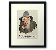 Uncle Gandalf Framed Print