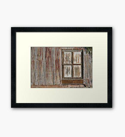 Corrugated Wall Framed Print