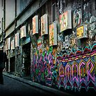 morning commute on Hosier lane by scottimages
