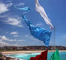 Foreshore flags at Bondi Beach by Chris Allen