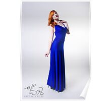 Mary Kate - Blue Dress Poster