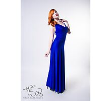 Mary Kate - Blue Dress Photographic Print