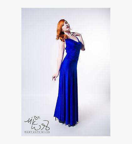 Mary Kate - Blue Dress Photographic Print