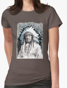 Native American Chief Womens Fitted T-Shirt