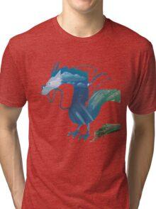 Haku Spirited Away Tri-blend T-Shirt