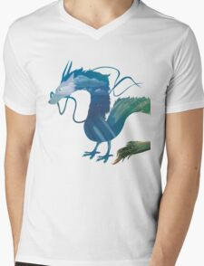 Haku Spirited Away Mens V-Neck T-Shirt