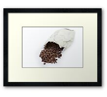 cocoa beans Framed Print