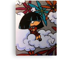 Sitting Lonely Canvas Print