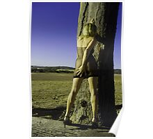girl and tree Poster