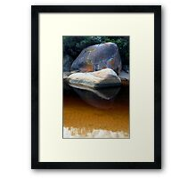 coloured rock Framed Print