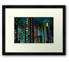 Chinese Nightmare- High rise Density  Framed Print