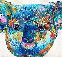 Colorful Koala Bear Art by Sharon Cummings by Sharon Cummings