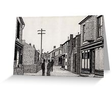 134 - RHOSLLANERCHRUGOG HIGH STREET, NORTH WALES (INK) 1987 Greeting Card