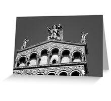 San Michele di Lucca - High contrast (click please!) Greeting Card
