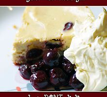 Fun Birthday Card With Cherry Cheesecake by Moonlake