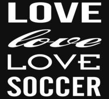 Love Love Love Soccer One Piece - Short Sleeve
