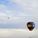 Flying ballons at White Sands NM by lfsaenz