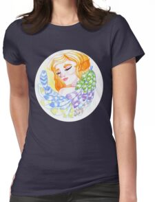 Preening Womens Fitted T-Shirt