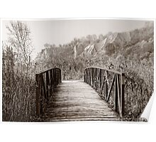 Misty Morning at Scarbough Bluffs Poster