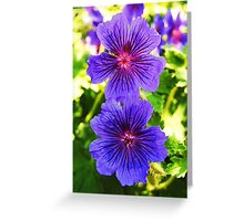 Electric Blue Dreams Greeting Card