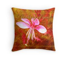 thinking of you (for Polly470) Throw Pillow