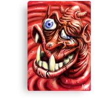 Squashy Undershot Devil Canvas Print