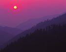 MISTY SUNSET,MORTON OVERLOOK by Chuck Wickham