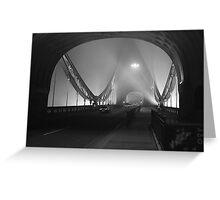 Misty Bridge  Greeting Card
