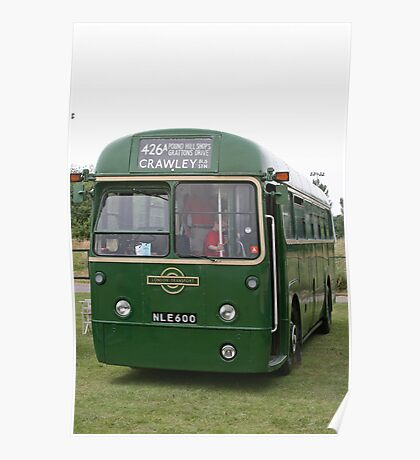 London Transport green country bus Poster