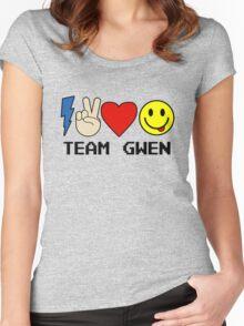 TEAM GWEN shirt New Season 9 fall emoji emoticon Women's Fitted Scoop T-Shirt