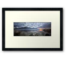 Mountain Lake at Dusk Framed Print